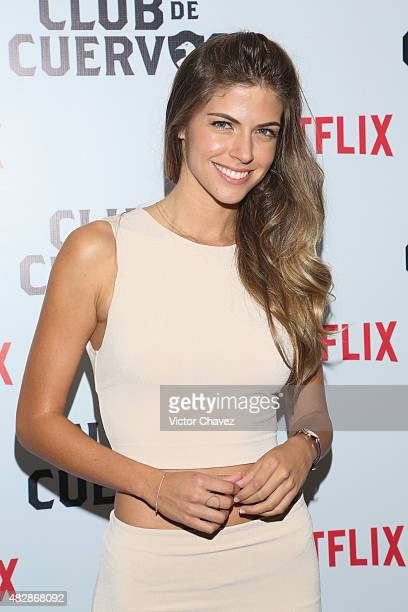 Actres Stephanie Cayo attends the 'Club De Cuervos' photocall at Cinepolis Plaza Carso on August 3 2015 in Mexico City Mexico