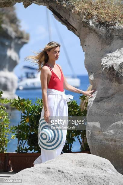 Actres Sveva Alviti is seen at the 2018 Ischia Global Film Music Fest on July 17 2018 in Ischia Italy