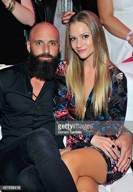 Actress A J Cook and Nathan Andersen attends Elyse Walker presents the 10th anniversary Pink Party hosted by Jennifer Garner and Rachel Zoe at...