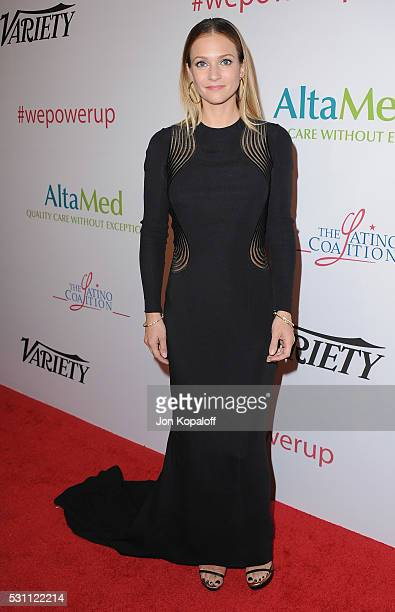 Actress A J Cook arrives at AltaMed Health Services' Power Up We Are The Future Gala at the Beverly Wilshire Four Seasons Hotel on May 12 2016 in...