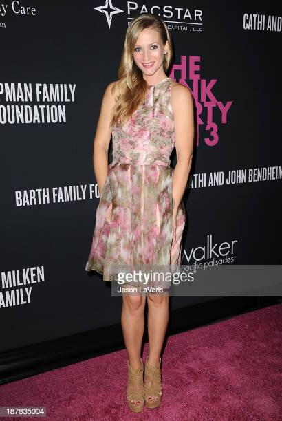 Actress A J Cook attends the 2013 Pink Party at Hangar 8 on October 19 2013 in Santa Monica California