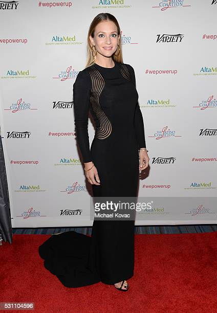 Actress A J Cook attends the AltaMed Power Up We Are The Future Gala at the Beverly Wilshire Four Seasons Hotel on May 12 2016 in Beverly Hills...