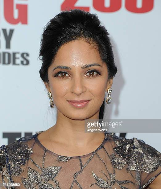 Actress Aarti Mann arrives at CBS's The Big Bang Theory Celebrates 200th Episode at Vibiana on February 20 2016 in Los Angeles California