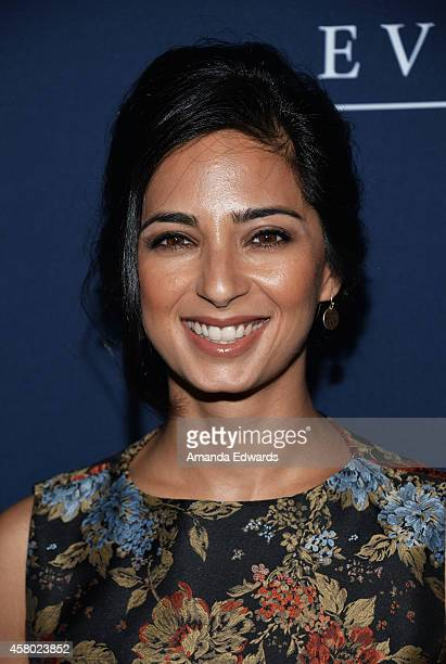 Actress Aarti Mann arrives at the Los Angeles premiere of The Theory Of Everything at the AMPAS Samuel Goldwyn Theater on October 28 2014 in Beverly...