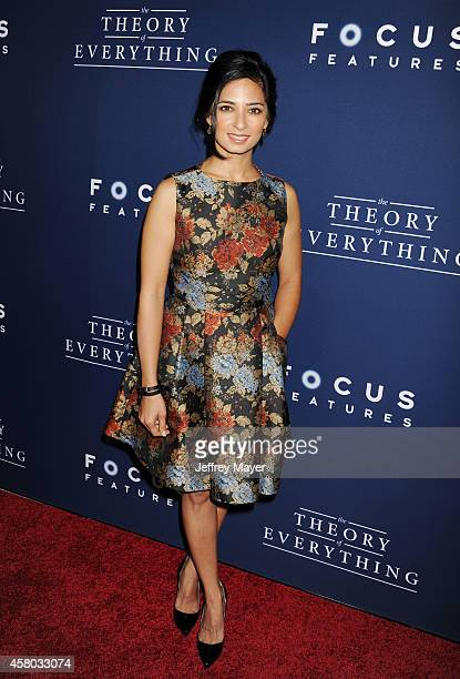 Actress Aarti Mann arrives at the Los Angeles premiere of 'The Theory Of Everything' at the AMPAS Samuel Goldwyn Theater on October 28 2014 in...