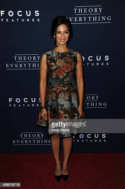 Actress Aarti Mann arrives to the Premiere of Focus Features' The Theory Of Everything at AMPAS Samuel Goldwyn Theater on October 28 2014 in Beverly...