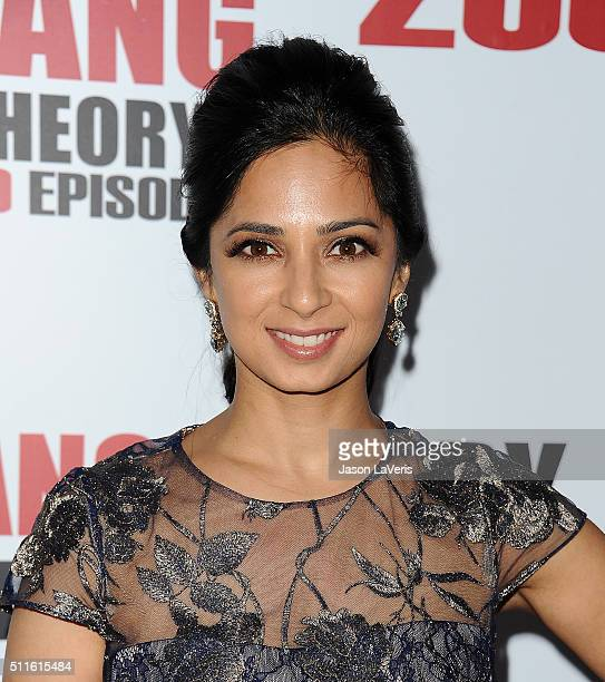 Actress Aarti Mann attends The Big Bang Theory 200th episode celebration at Vibiana on February 20 2016 in Los Angeles California