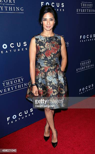 Actress Aarti Mann attends the premiere of Focus Features' 'The Theory of Everything' at the AMPAS Samuel Goldwyn Theater on October 28 2014 in...
