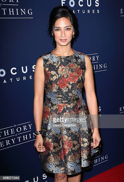 Actress Aarti Mann attends the premiere of Focus Features' The Theory of Everything at the AMPAS Samuel Goldwyn Theater on October 28 2014 in Beverly...