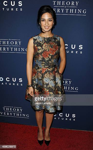 Actress Aarti Mann attends the premiere of 'The Theory of Everything' at AMPAS Samuel Goldwyn Theater on October 28 2014 in Beverly Hills California