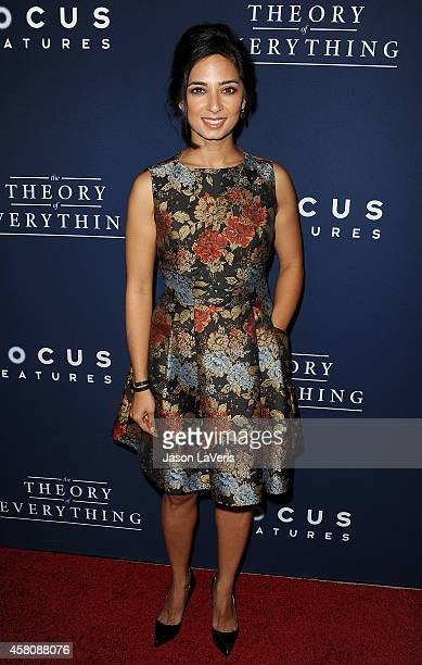 Actress Aarti Mann attends the premiere of The Theory of Everything at AMPAS Samuel Goldwyn Theater on October 28 2014 in Beverly Hills California