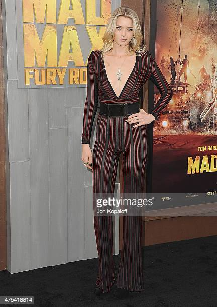 Actress Abbey Lee arrives at the Los Angeles Premiere 'Mad Max Fury Road' at TCL Chinese Theatre IMAX on May 7 2015 in Hollywood California