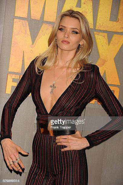 """Actress Abbey Lee arrives at the premiere of """"Mad Max: Fury Road"""" held at the TCL Chinese Theater in Hollywood."""