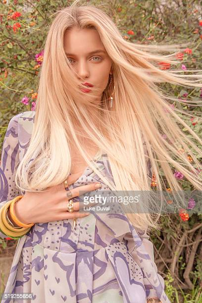 Actress Abbey Lee is photographed for VVV Magazine on January 29 2015 in Los Angeles California