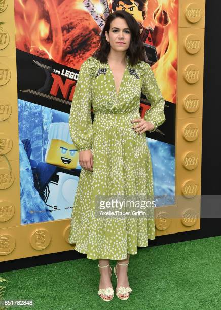 Actress Abbi Jacobson arrives at the premiere of 'The LEGO Ninjago Movie' at Regency Village Theatre on September 16 2017 in Westwood California