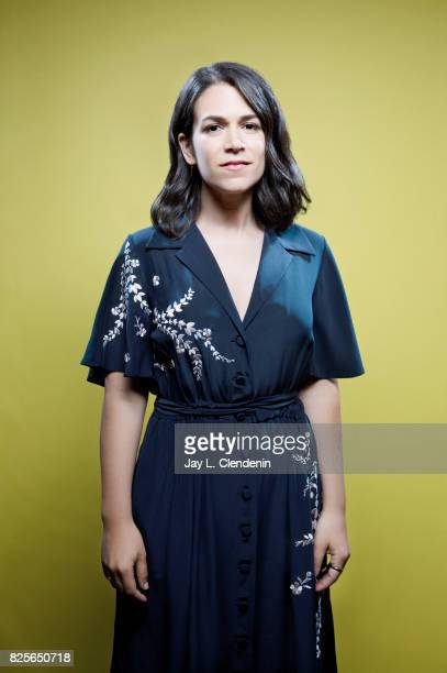 Actress Abbi Jacobson from the film 'The Lego Ninjago Movie' is photographed in the LA Times photo studio at ComicCon 2017 in San Diego CA on July 21...