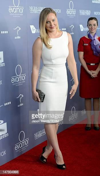 Actress Abbie Cornish arrives at Australians In Film Awards Benefit Dinner at InterContinental Hotel on June 27 2012 in Century City California