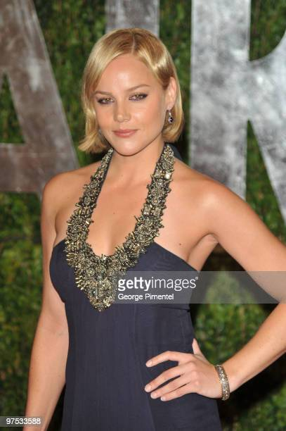 Actress Abbie Cornish arrives at the 2010 Vanity Fair Oscar Party hosted by Graydon Carter held at Sunset Tower on March 7 2010 in West Hollywood...