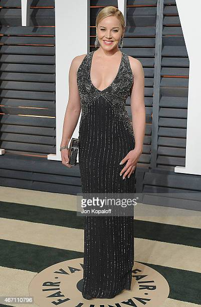 Actress Abbie Cornish arrives at the 2015 Vanity Fair Oscar Party Hosted By Graydon Carter at Wallis Annenberg Center for the Performing Arts on...
