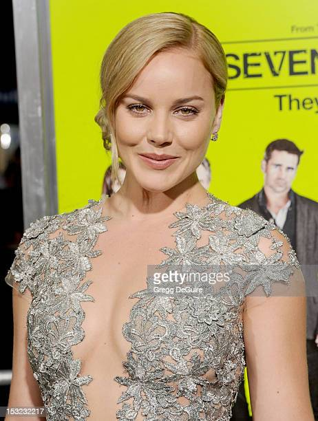 """Actress Abbie Cornish arrives at the Los Angeles premiere of """"Seven Psychopaths"""" at Mann Bruin Theatre on October 1, 2012 in Westwood, California."""