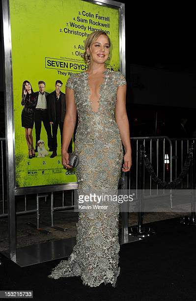 Actress Abbie Cornish arrives at the premiere of CBS Films' 'Seven Psychopaths' at Mann Bruin Theatre on October 1 2012 in Westwood California