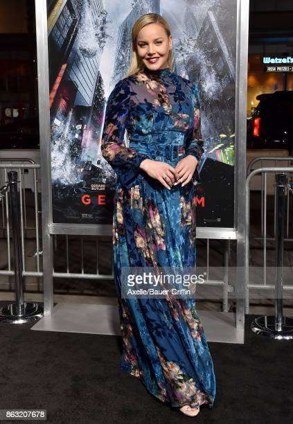 Actress Abbie Cornish arrives at the premiere of 'Geostorm' at TCL Chinese Theatre on October 16 2017 in Hollywood California