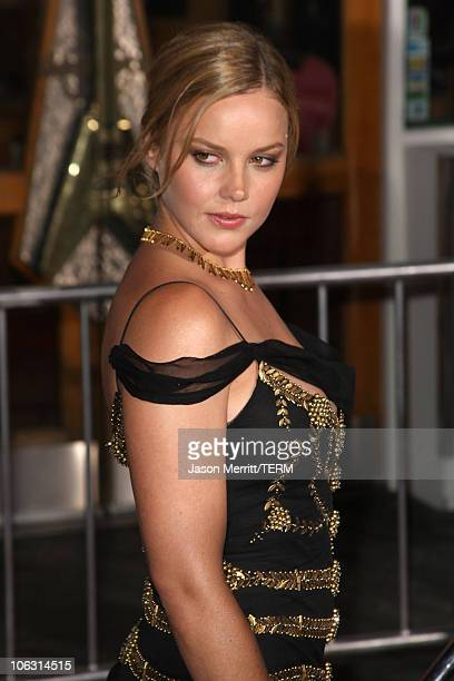 Actress Abbie Cornish arrives to the premiere of Elizabeth The Golden Age at Universal City Walk on October 1 2007 in Universal City California