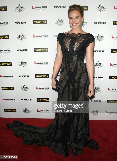 Actress Abbie Cornish attends the 2011 G'Day USA Los Angeles black tie gala at The Hollywood Palladium on January 22, 2011 in Los Angeles, California.