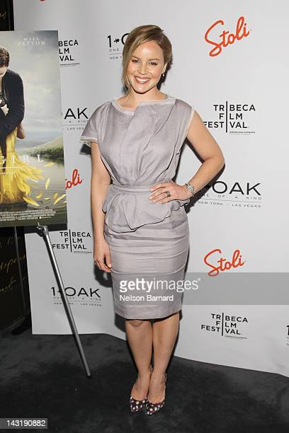 Actress Abbie Cornish attends the 2012 Tribeca Film Festival after party for The Girl hosted by Stolichnaya Vodka on April 20 2012 in New York City