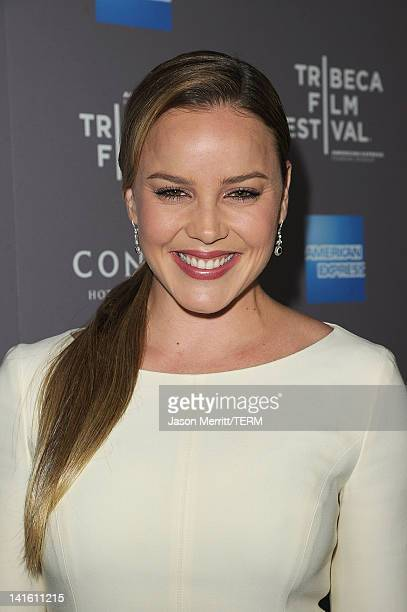 Actress Abbie Cornish attends the 2012 Tribeca Film Festival and American Express LA reception held at The Beverly Hilton Hotel on March 19 2012 in...