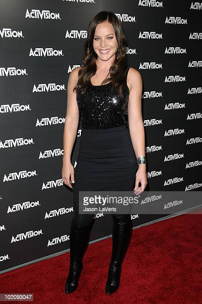 Actress Abbie Cornish attends the Activision kick-off party for E3 at Staples Center on June 14, 2010 in Los Angeles, California.