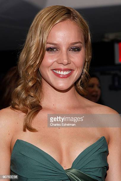 Actress Abbie Cornish attends the Apparition and Vanity Fair's US premiere Of 'Bright Star' at The Paris Theatre on September 14 2009 in New York City