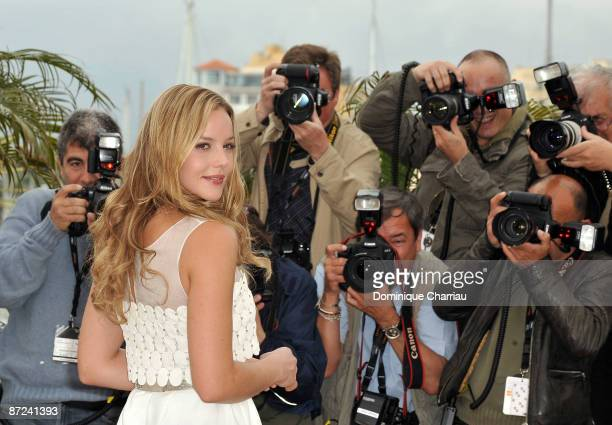 Actress Abbie Cornish attends the Bright Star Photo Call at the Palais Des Festivals during the 62nd Annual Cannes Film Festival on May 15 2009 in...