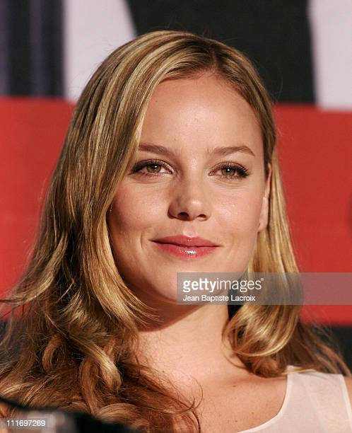 Actress Abbie Cornish attends the Bright Star Press Conference held at the Palais Des Festivals during the 62nd International Cannes Film Festival on...