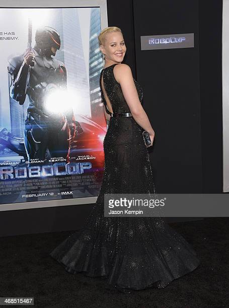 Actress Abbie Cornish attends the premiere of Columbia Pictures' Robocop on February 10 2014 in Hollywood California