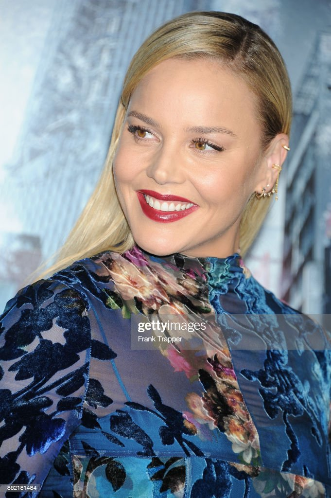 Actress Abbie Cornish attends the premiere of Warner Bros. Pictures' 'Geostorm' on October 16, 2017 at the TCL Chinese Theater in Hollywood, California.