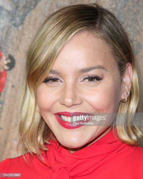 Actress Abbie Cornish attends the screening of 'Free Solo' at the 2018 LA Film Festival at the Wallis Annenberg Center for the Performing Arts on...