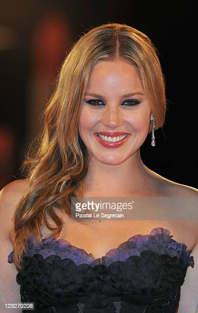 Actress Abbie Cornish attends the WE premiere at the Palazzo Del Cinema during the 68th Venice Film Festival on September 1 2011 in Venice Italy