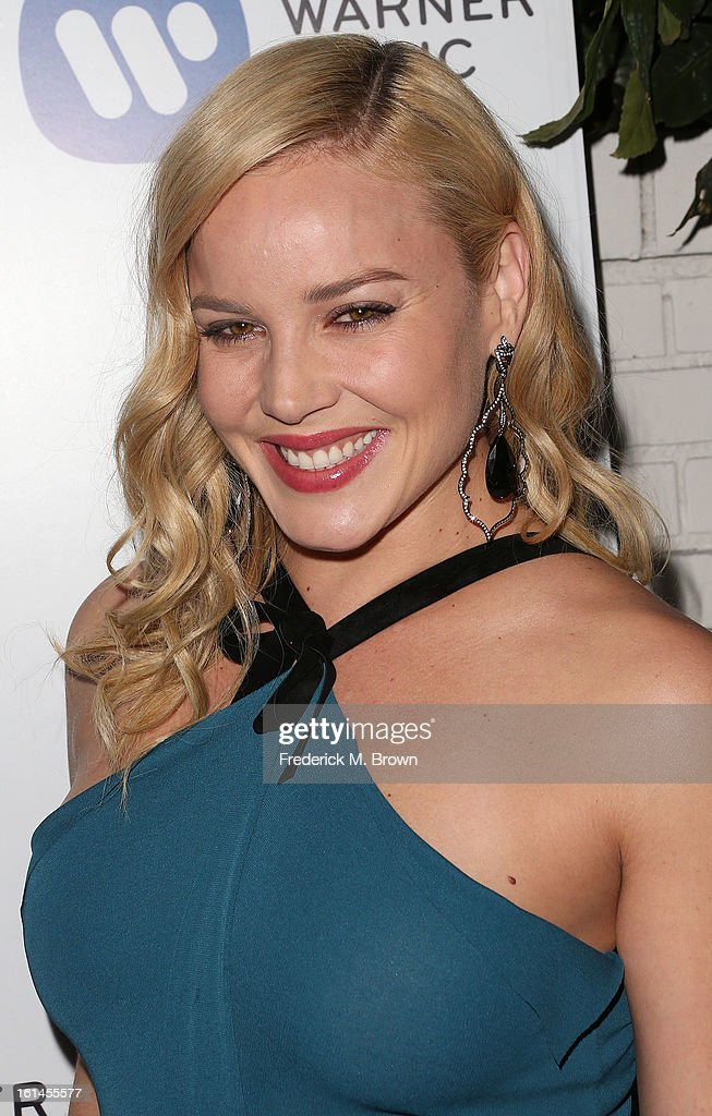 Actress Abbie Cornish attends Warner Music Group's 2013 Grammy Celebration at Chateau Marmont's Bar Marmont on February 10, 2013 in Hollywood, California.