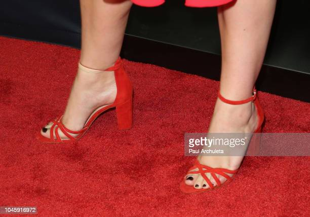 Actress Abbie Cornish Handbag Detail attends the screening of 'Free Solo' at the 2018 LA Film Festival at the Wallis Annenberg Center for the...