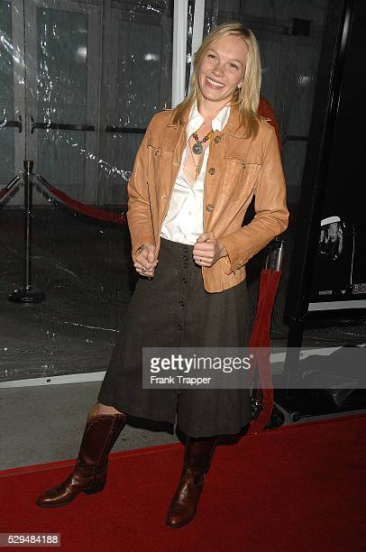 Actress Abby Brammell arrives at the premiere of 'American Gangster' held at the ArcLight Cinemas in Hollywood