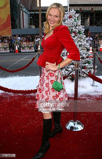 Actress Abby Brammell arrives at the premiere of Warner Bros 'Fred Claus' held at the Grauman's Chinese Theater on November 3 2007 in Hollywood...