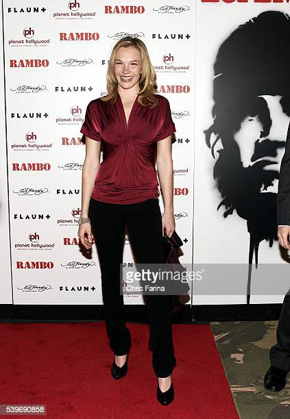 Actress Abby Brammell arrives at the world premiere of the movie 'Rambo' held at the Planet Hollywood Resort and Casino in Las Vegas