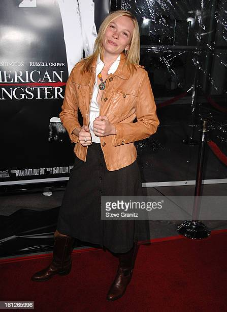 Actress Abby Brammell arrives to the industry screening for 'American Gangster' at the Arclight on October 29 2007 in Hollywood California