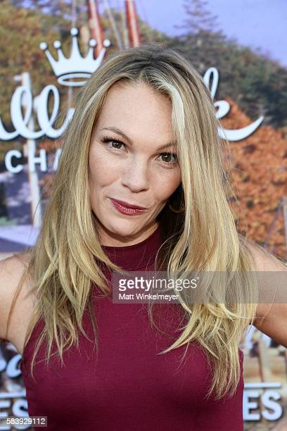 Actress Abby Brammell attends the Hallmark Channel and Hallmark Movies and Mysteries Summer 2016 TCA press tour event on July 27 2016 in Beverly...