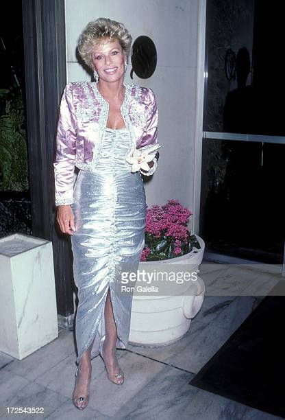 Actress Abby Dalton attends the CBS Television Affiliates Party on June 1 1986 at the Century Plaza Hotel in Century City California