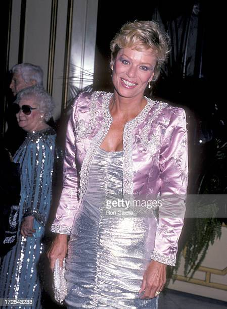 Actress Abby Dalton attends the Second Annual American Cinema Awards on November 22 1985 at the Beverly Wilshire Hotel in Beverly Hills California