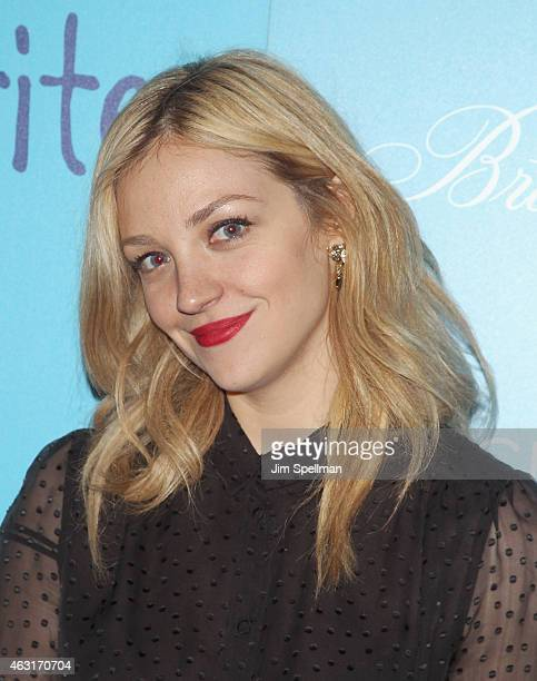"""Actress Abby Elliott attends The Cinema Society and Brooks Brothers host a screening of """"The Rewrite"""" at Landmark's Sunshine Cinema on February 10,..."""