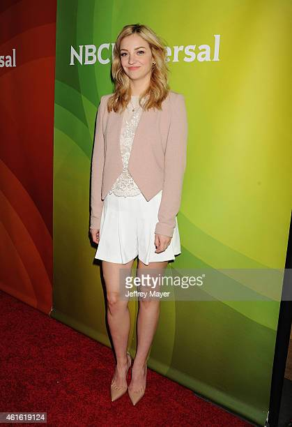 Actress Abby Elliott attends the NBCUniversal 2015 Press Tour at the Langham Huntington Hotel on January 15 2015 in Pasadena California