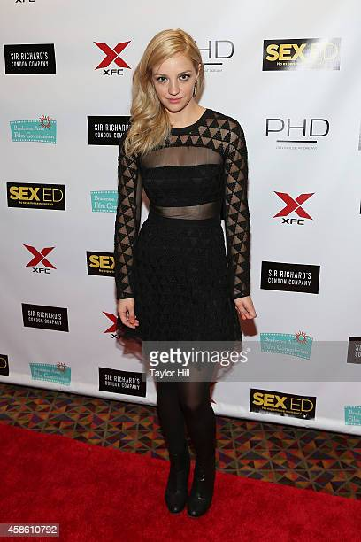 Actress Abby Elliott attends the 'Sex Ed' New York premiere at AMC Empire 25 theater on November 7 2014 in New York City
